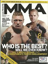 Fedor Emelianenko Signed December 2009 Ultimate MMA Magazine PSA/DNA Pride UFC