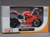 For Ducati 1199 Panigale 1:12 Red Diecast Motorcycle Bike Toy Kids Xmas Gift