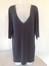 JOSEPH V NECK KNIT grey SWEATER TUNIC TOP like Vince SIZE S-M