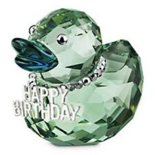 SWAROVSKI SILVER CRYSTAL HAPPY BIRTHDAY DUCK 1078531 MINT IN BOX