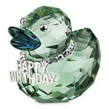 SWAROVSKI SILVER CRYSTAL HAPPY BIRTHDAY DUCK 1078531