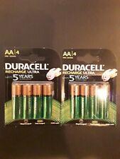 PILE NEUVES Duracell Recharge Ultra LR6 AA 2500 mAh (par 4) X2 PACK