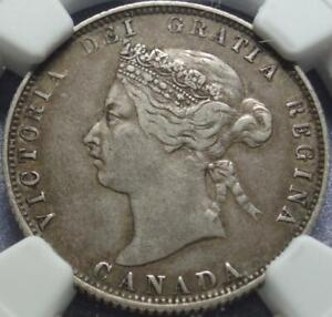 "1875-H CANADA Rare >KEY DATE< 25¢ Graded ""NGC VF35"" Heaton Mint >FILL THAT HOLE<"