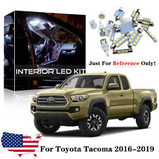 12x White LED Interior Lights Package Kit For 2016-2018 2019 Toyota Tacoma+Tool