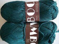 MeiMei Bamboo 100% bamboo yarn, Dark peacock/forest green, lot of 2 (181 yds ea)