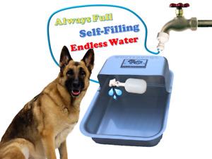 Garden Hose Spigot Faucet Pet Dog Water Bowl WooterBowl Waterer Aluminum
