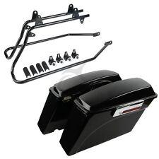 Complete Set Hard Saddlebags Saddle Bags + Softail Conversion Brackets Harley
