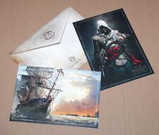 Assassin's Creed Black Flag Envelope 2 Artcards LITHOGRAPHS  Artworks PS3 PS4