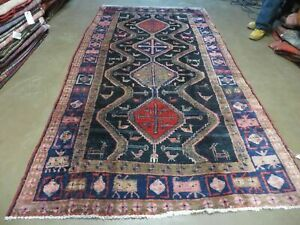 5' X 9' Antique Hand Made Turkish Wool Rug Vegetable Dyes Runner