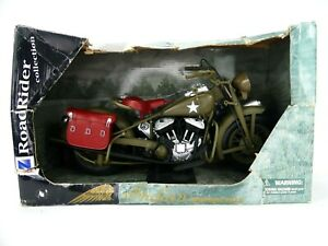 New Ray Road Rider Collection Indian Motorcycle WW II Military Bike 1:6 Scale