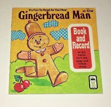 Vintage 1970's Christmas Gingerbread Man Book & Record Peter Pan Records 45 RPM