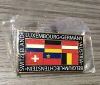 Luxembourg Germany Austria Belgium Liechtenstein Switzerland Flags Pin