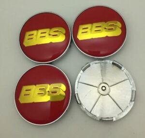 4pcs 68mm BBS Red Gold Alloy Wheel Center Caps Badges Emblems Rim Caps Hub Caps