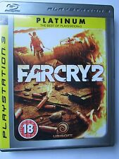 Far Cry 2 (Sony PlayStation 3, 2008) PLATINUM BLU-RAY, DISC MINT, WITH MANUAL.