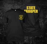 Michigan Police State Trooper logo - Custom Men's T-Shirt Tee
