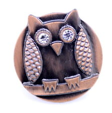 Super cute bronze / silver coloured owl stretch ring, multiple choices
