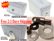 Premium Steel Locking Hardware for 20-50 Cal Ammo Can Box Ammunition Container