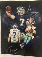 Cooper Rush Signed 8x10 Dallas Cowboys Photo Autographed Central Michigan Gdst C