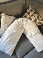 Maternity Pregnancy V Shaped Pillow Nursing White