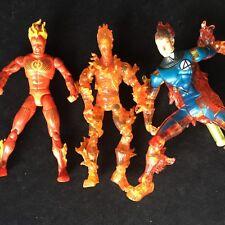 Marvel cuatro FANTÁSTICOS JOHNNY STORM LA ANTORCHA HUMANA figuras de acción paquete de Juguete Lote De Trabajo