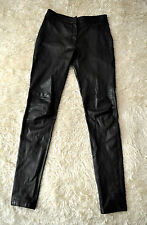 "Vanessa Bruno Black Lambskin Leather Jeans Pants Skinny Sz 26-27"" W RRP $1,600"