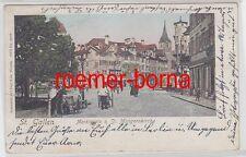 77305 Ak St. Gallen Marktplatz & St. Mangernkirche 1906