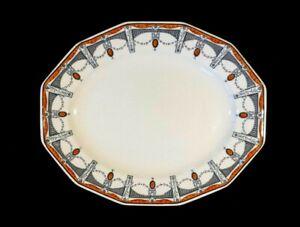 Beautiful Royal Doulton Claremont Orange Oval Platter Circa 1912