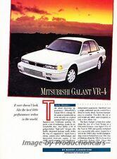 1991 Mitsubishi Galant VR4 VR-4 Car Review Report Print Article J814