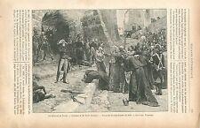 Napoléon Bonaparte La Révolte de Pavie de Paul-Émile Boutigny GRAVURE PRINT 1895