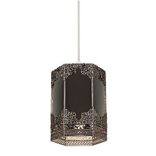 Endon Morro pendant shade only 60W Mirrored glass & pewter effect plate