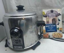 Saladmaster Electric 5 Qt Deep Fryer Buffet Kettle Slow Multi Cooker & Recipe