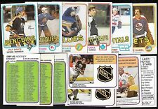 1981-82 OPC 81-82 O PEE CHEE NHL HOCKEY CARD & INSERT 265-396 & WRAPPER SEE LIST