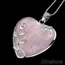 Lovely ROSE QUARTZ Stone HEART PENDANT CHARM  Perfect for Necklace or Bracelet