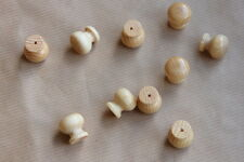 10 x 23 mm dia SMALL Wooden Knobs DIY Cupboard Drawers PINE