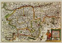 MAP ANTIQUE COLOM 1696 FLANDERS BELGIUM OLD LARGE REPLICA POSTER PRINT PAM0829
