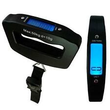 BLACK POCKET SCALE WITH BELT DIGITAL TRAVEL LUGGAGE SCALE