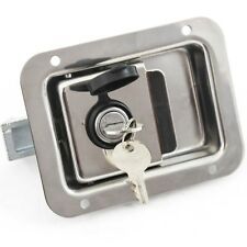 """Toolbox Lock Stainless Door Paddle Handle Trailer Rv Latch Large 5.5"""" 4.25"""" New"""