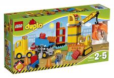 LEGO DUPLO 10813 Grande Cantiere Bulldozer, Camion Ribaltabile e Gru New