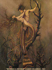 Mermaid & Merman Art Print by David Delamare (R18)