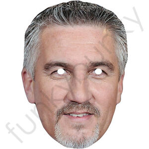 Paul Hollywood Celebrity Chef Card Mask - All Our Masks Are Pre-Cut! Bake Off