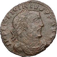 LICINIUS I Constantine I enemy 312AD Ancient Roman Coin JUPITER Cult  i30945