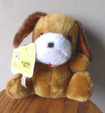 "Puppy Dog Plush Stuffed Vintage Brown Rust Cuddle Wit 8"" Tall NEW with tags"