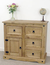Corona Small Sideboard 1 Door 4 Drawer Solid Mexican Pine by Mercers Furniture®
