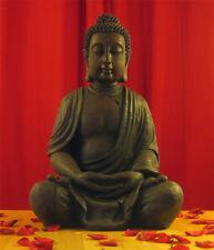 BUDDHA SKULPTUR 70cm FENG SHUI STATUE FIGUR MODELL MÖNCH GARTEN BRAUN NEU