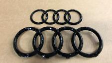 Audi A4/S4 (2016+) Black Optic Audi Rings Kit - OEM Factory Accessory