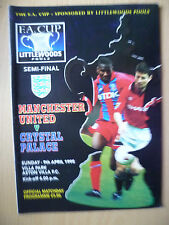 1995 FA CUP SEMI FINAL- MANCHESTER UNITED v CRYSTAL PALACE, 9th April