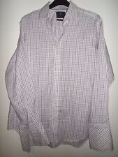 MARKS AND SPENCER RED BLUE & WHITE CHECKED PURE COTTON SHIRT SIZE 16.5 (42)
