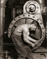 Vintage 1920 Photo - Power House Mechanic & Steam Pump Muscular Man Gay Interest
