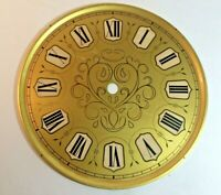 Vintage Brass Roman Numeral Clock Dial Germany STEAMPUNK NEW OLD STOCK 6 5/8''