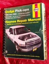 Haynes Repair Manual 1994 - 1998 Dodge Pick-up All full size models